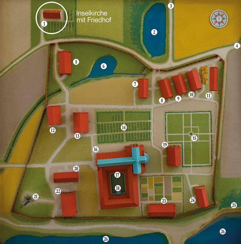 Klostermodell Hiddensee